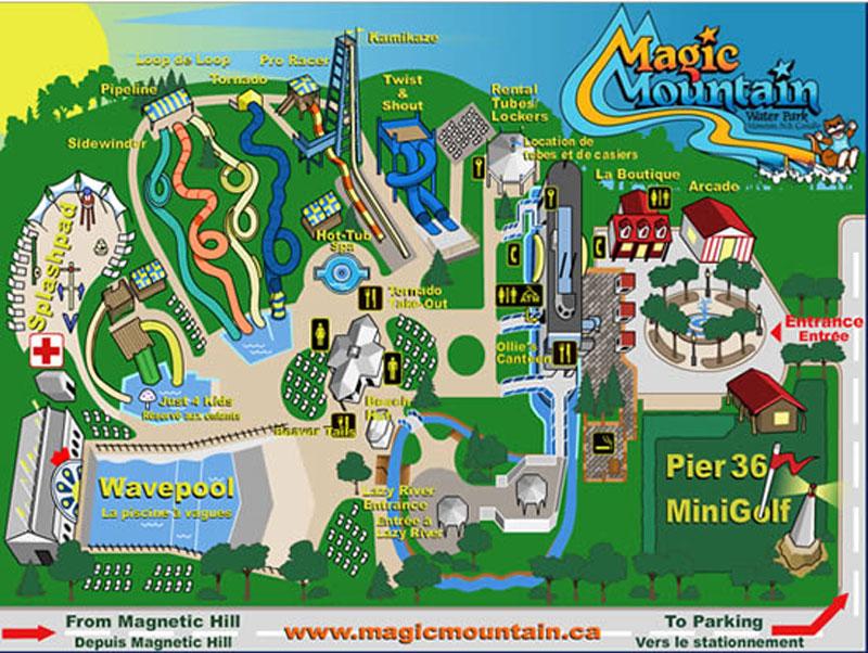 Marineland Canada Map Marineland   marineland park map